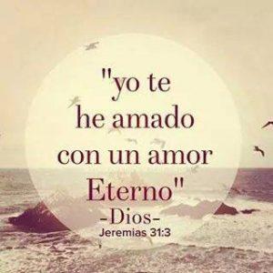 palabras de dios con amor eterno