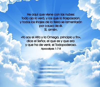 citas biblicas de cristo viene nubes