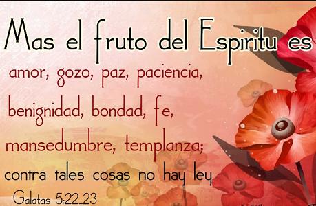 presencia del espiritu santo fruto