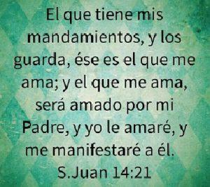 el amor de jesus mandamientos