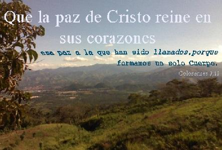 la paz de cristo llamados