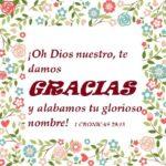 Dando Gracias a Dios en todo tiempo porque Él es Bueno