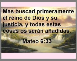 buscar el Reino de Dios justicia