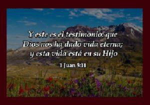 Mensajes Bíblicos de Vida Eterna testimonio