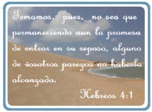 El reposo del pueblo de Dios promesa